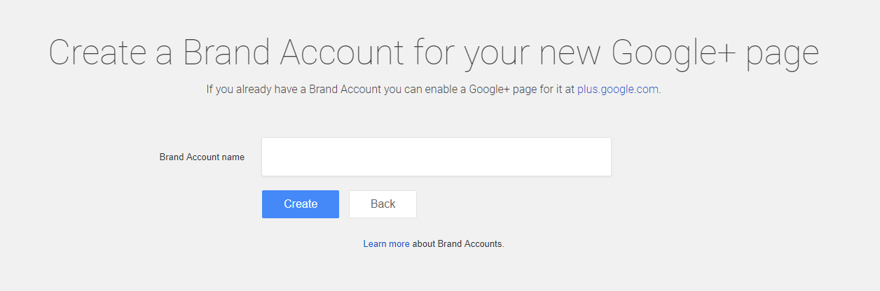 brand account name google plus