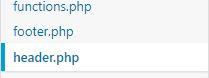header php file wordpress screenshot